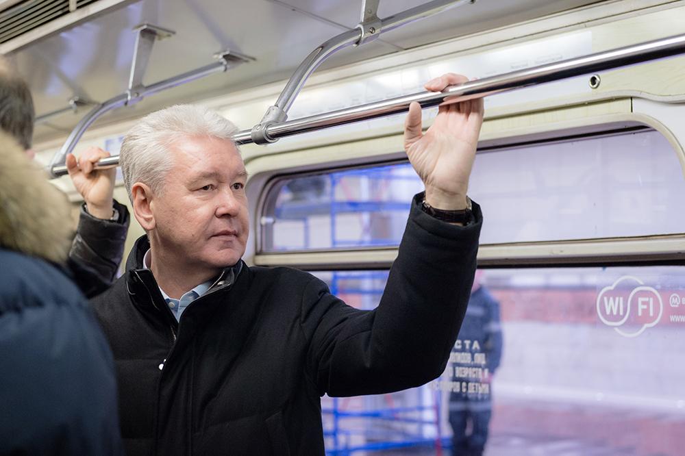 Сергей Собянин в метро
