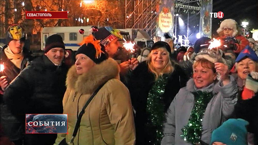 Празднование Нового года в Севастополе