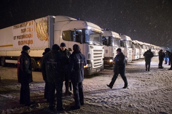 Конвой с гуманитарной помощью для жителей Донбасса