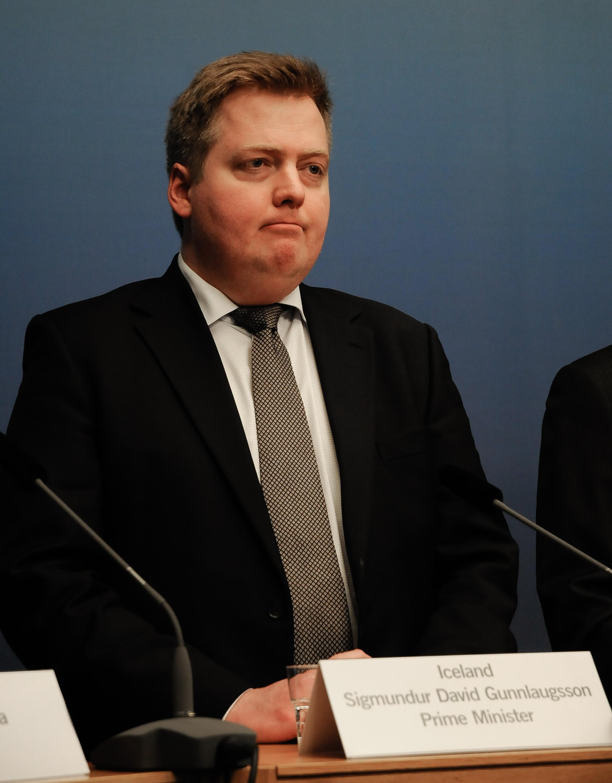 Премьер-министр Исландии Сигмундур Давид Гуннлаугссон