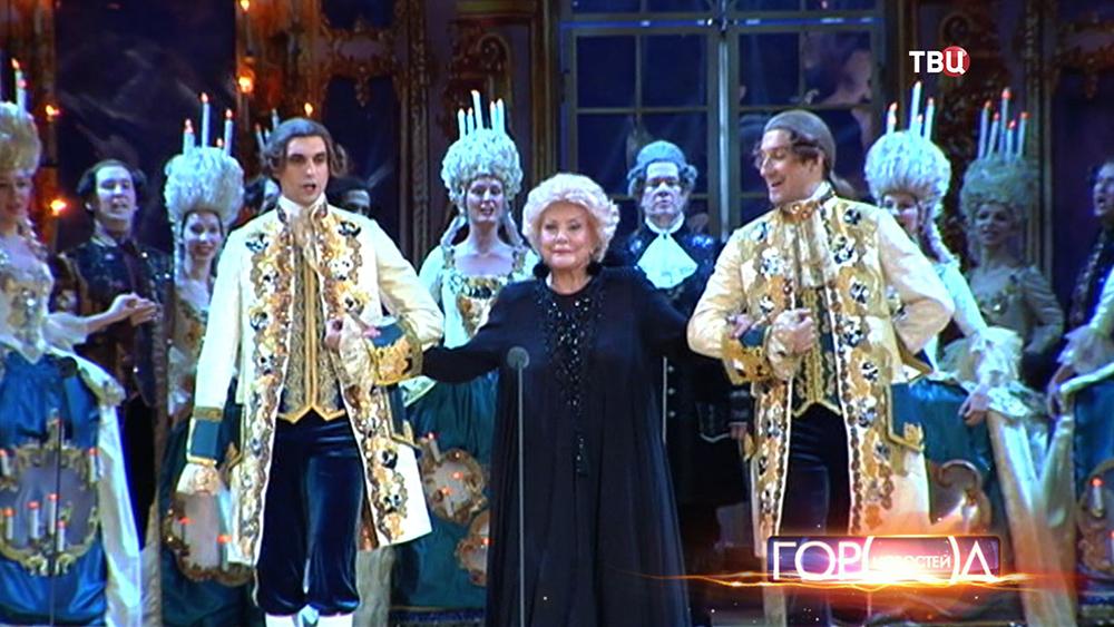 Оперная певица Елена Образцова на сцене