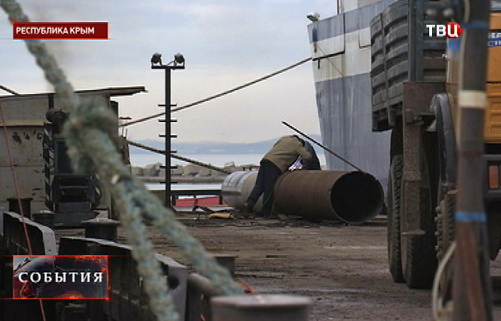 Реконструкция причалов на Керченской переправе