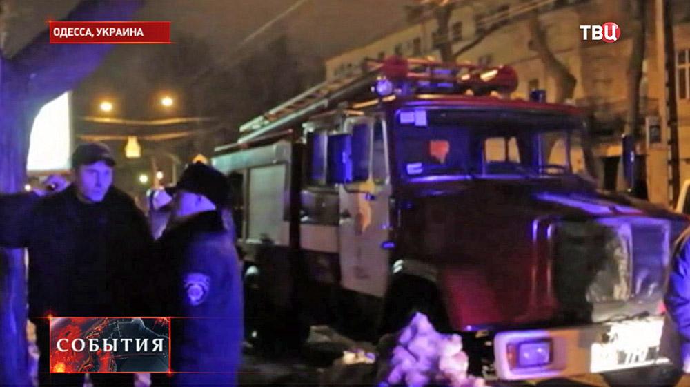 Последствия взрыва в центре Одессы