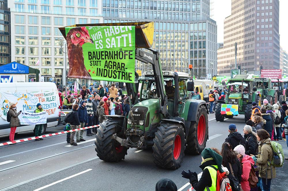 Митинг немецких фермеров