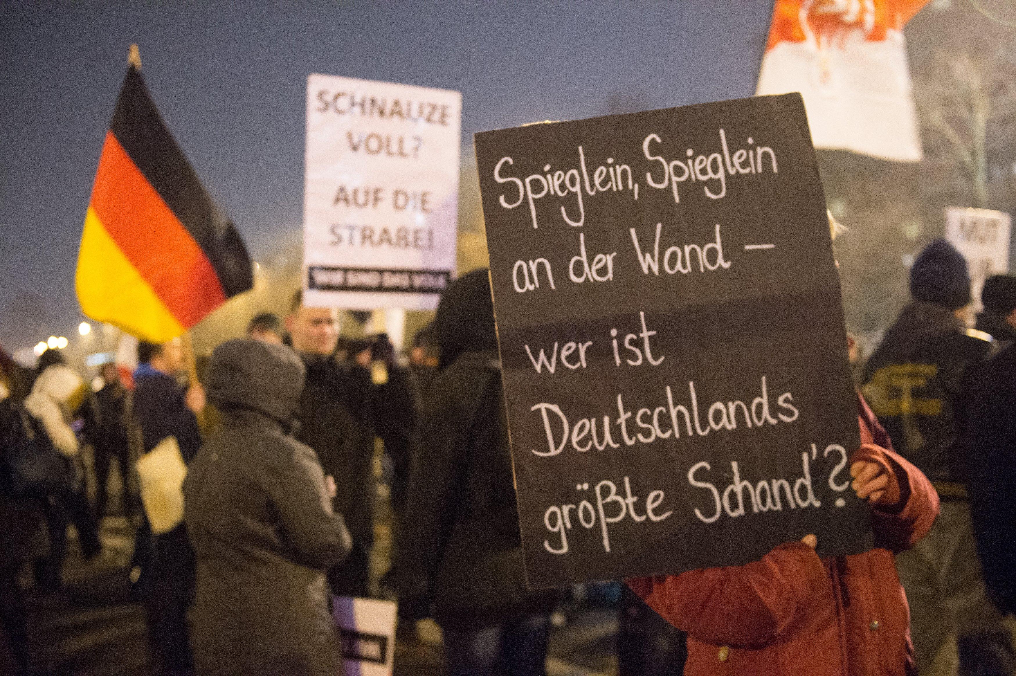 Акция протеста в Берлине