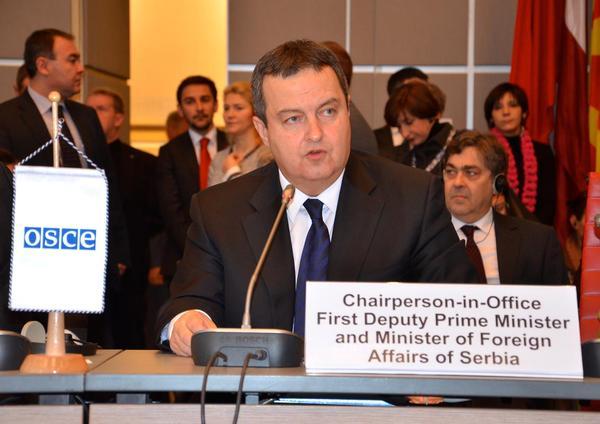 Действующий председатель ОБСЕ, министр иностранных дел Сербии Ивица Дачич