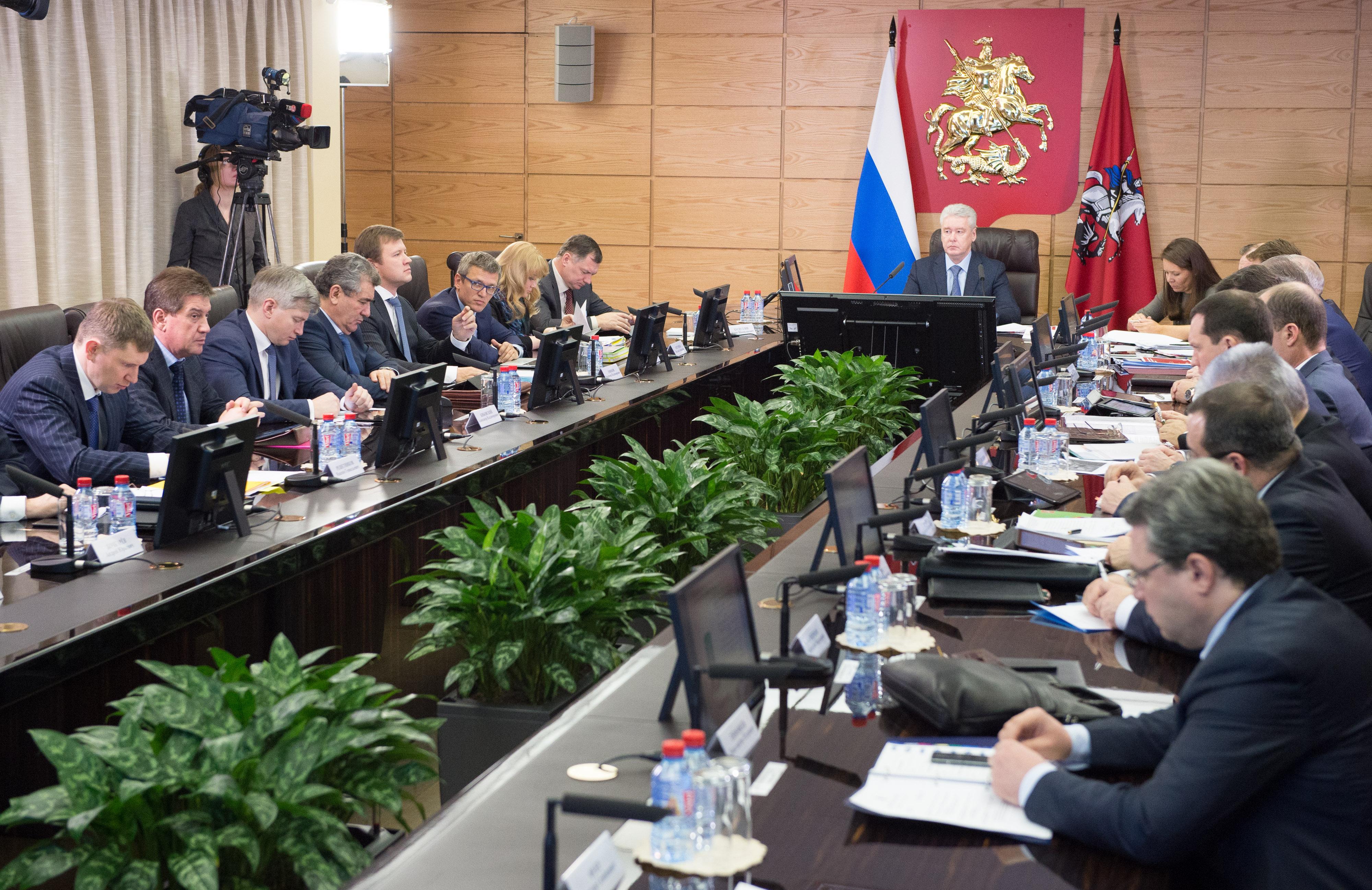Совещание по оперативным вопросам в правительстве Москвы