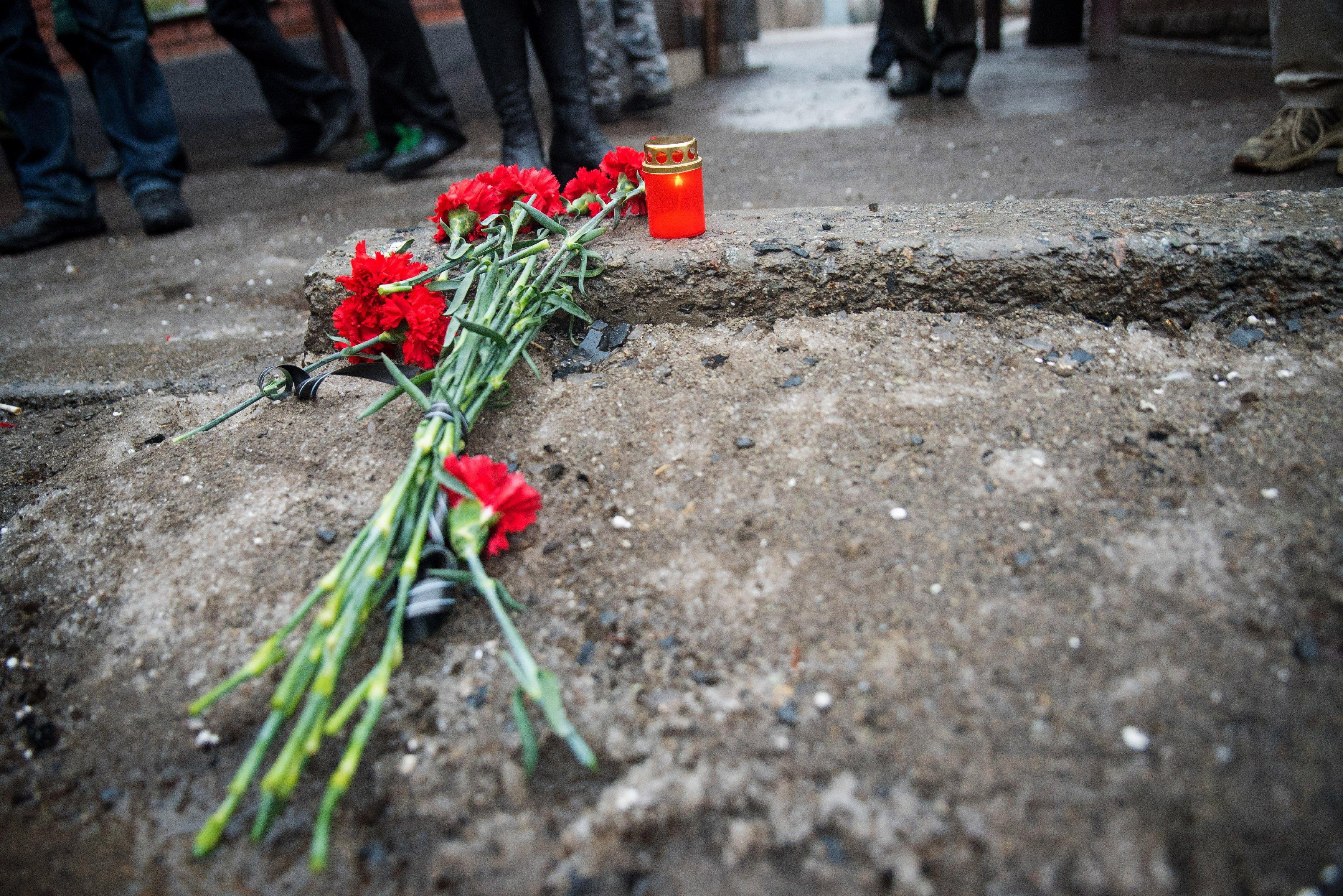 Траур по погибшим в Донецке