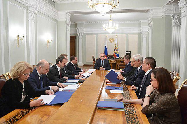 Владимир Путин провёл совещание по экономическим вопросам