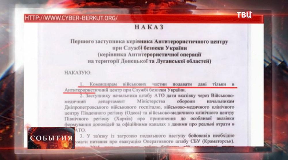 """Приказ """"КиберБеркут"""""""