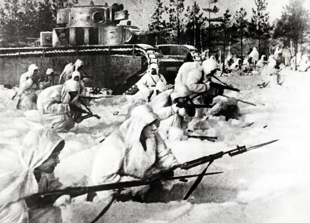 Бойцы советской армии во второй мировой войне