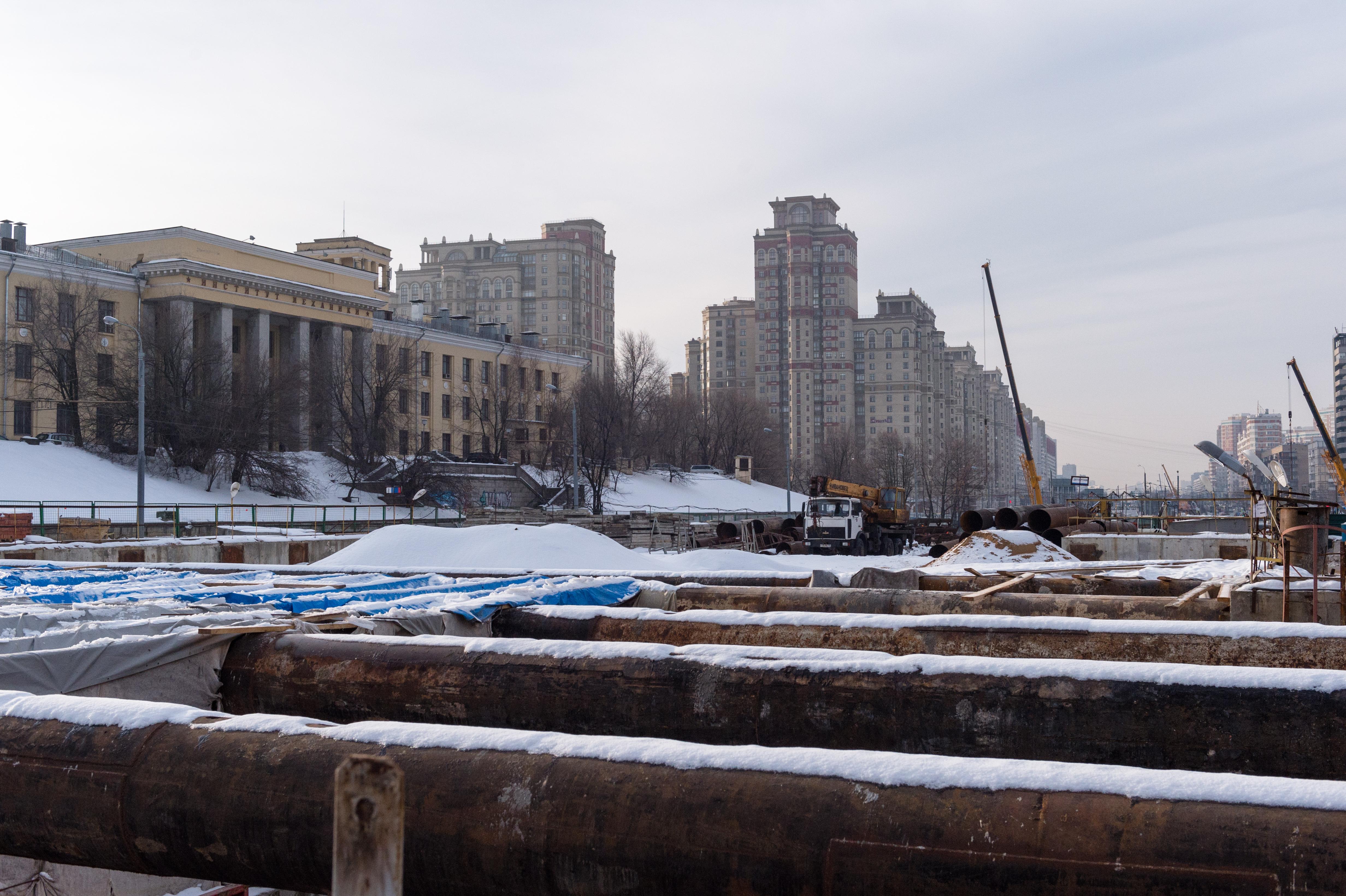 Строительство станции «Ломоносовский проспект»