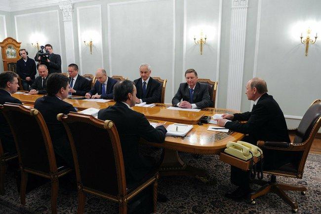 Совещание у президента Владимира Путина