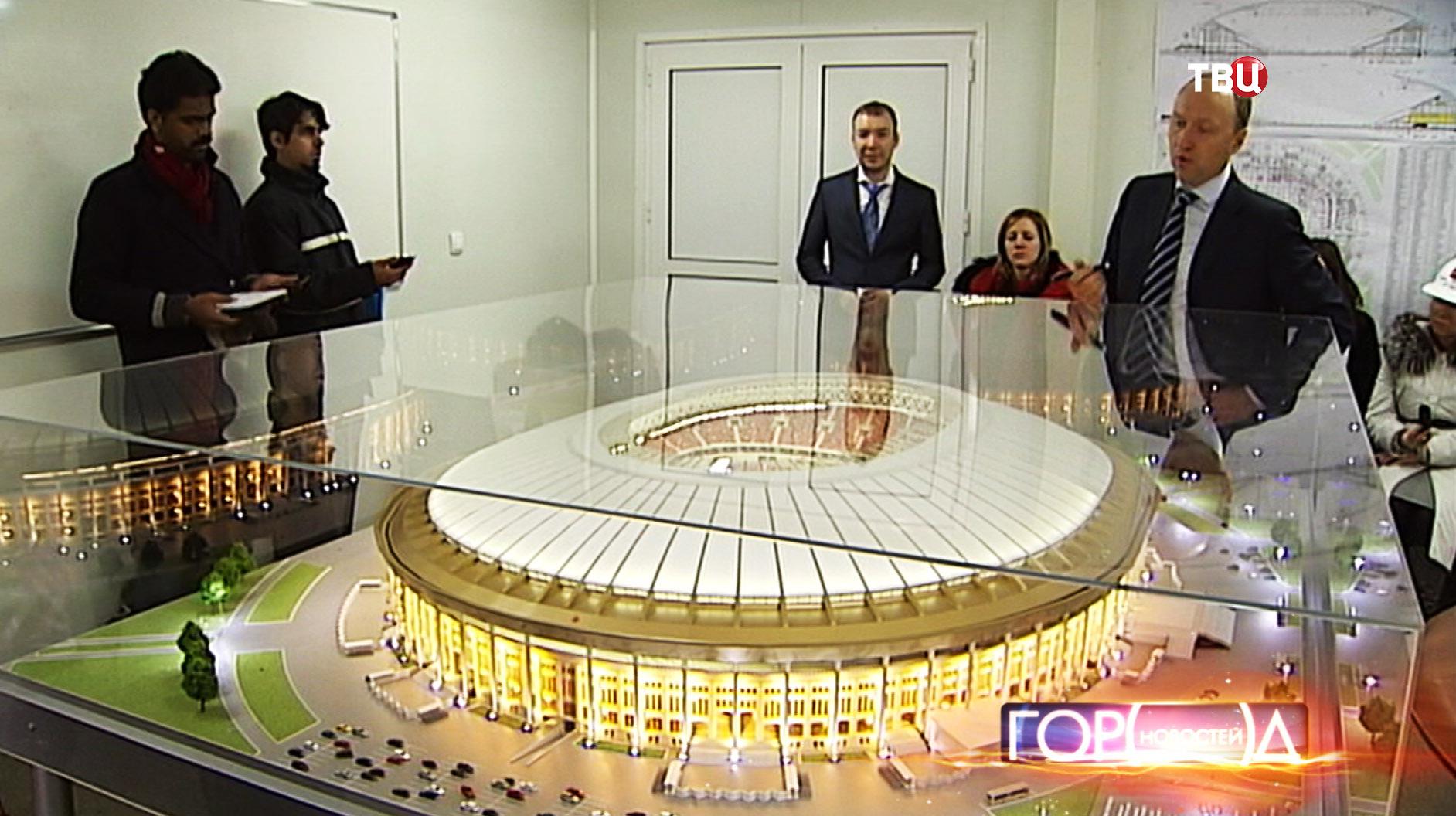"""Макет стадиона """"Лужники"""""""