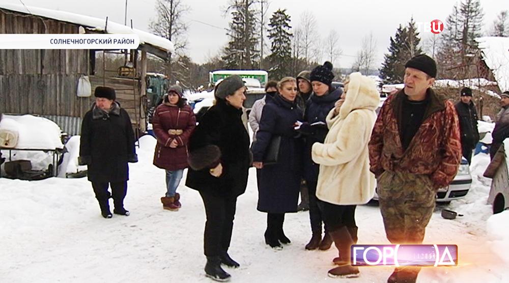 Жители аварийных домов подмосковного Колтышева