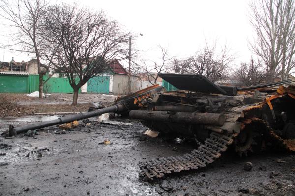 Сгоревшая техника украинских войск