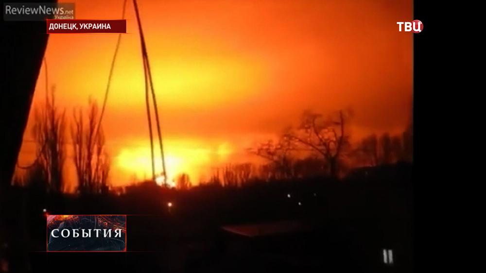 Военные действия в близи Донецка