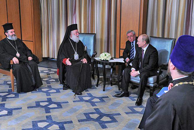 Патриархом Александрийский и всея Африки Феодор II и президент России Владимир Путин