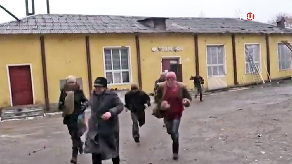 Жители Донецкой области прячутся от обстрелов