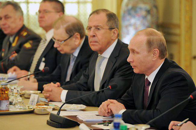 Президент России Владимир Путин во время российско-египетских переговорах