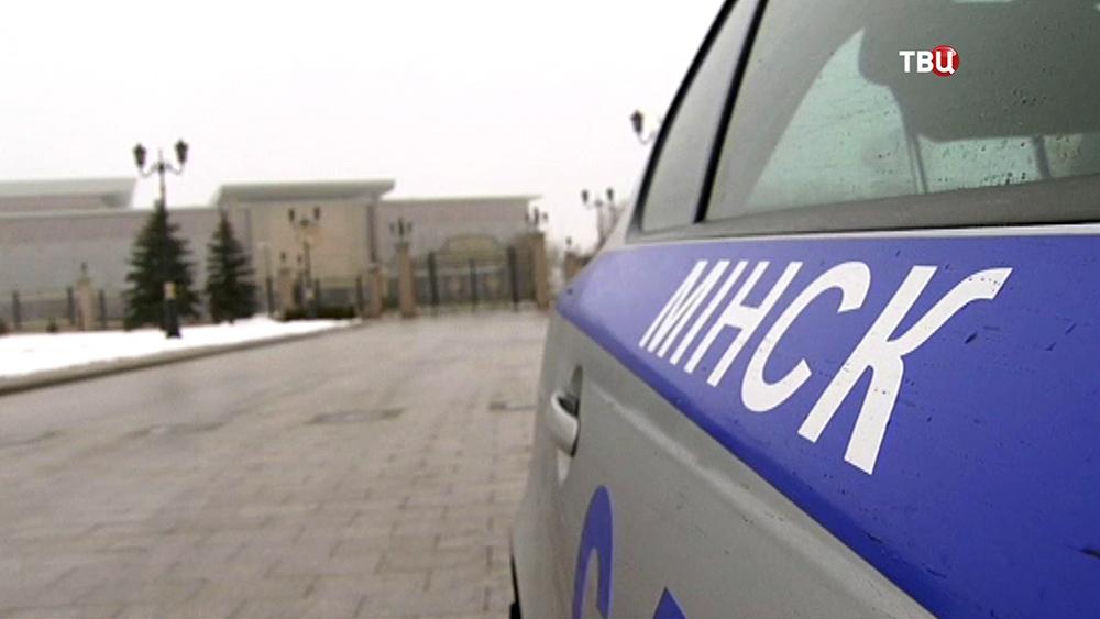 Минская милиция возле дворец независимости