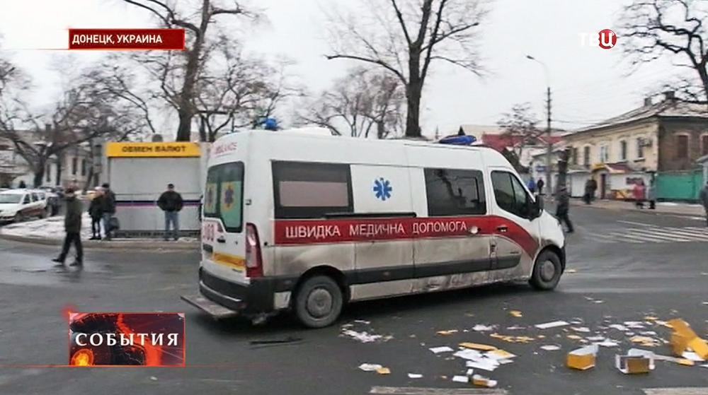 Машина скорой помощи в Донецке