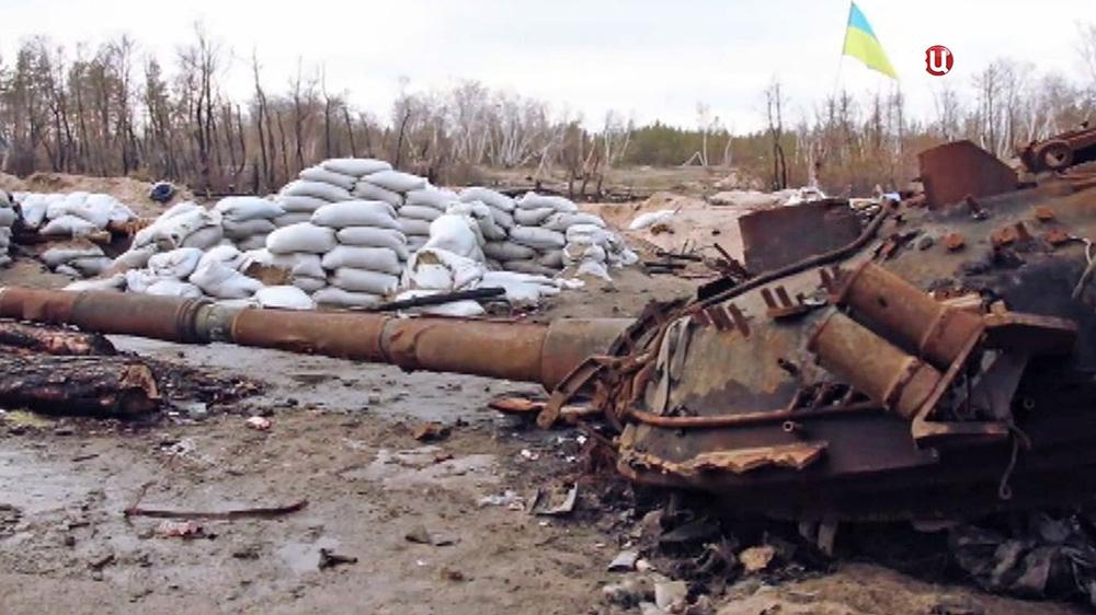 Разбитая украинская военная техника