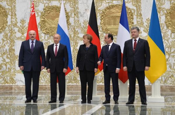 """Лидеры стран """"нормандской четвёрки"""" в Минске"""