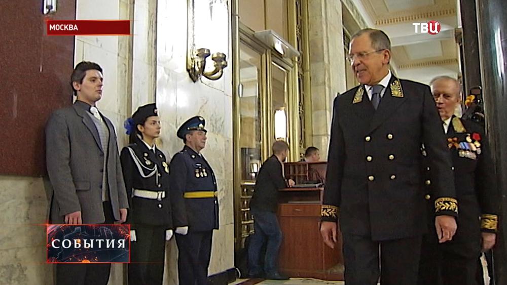 Глава российского МИД Сергей Лавров на торжественном вечере, приуроченном ко Дню дипломата