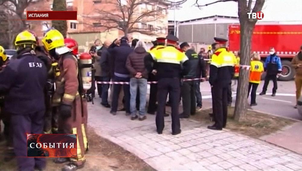 Последствия взрыва на химзаводе в Испании