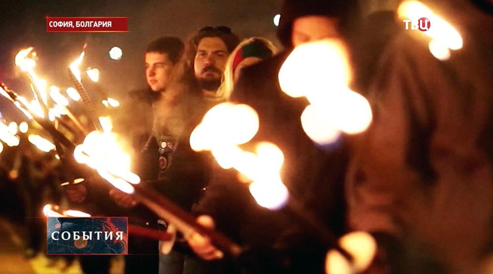 """Факельное шествие """"Луков марш"""" в Софии"""