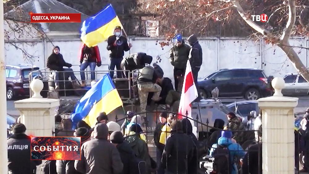 Пикет у здания суда в Одессе