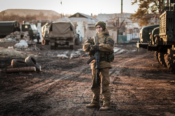 Ополченец ДНР в Донецкой области
