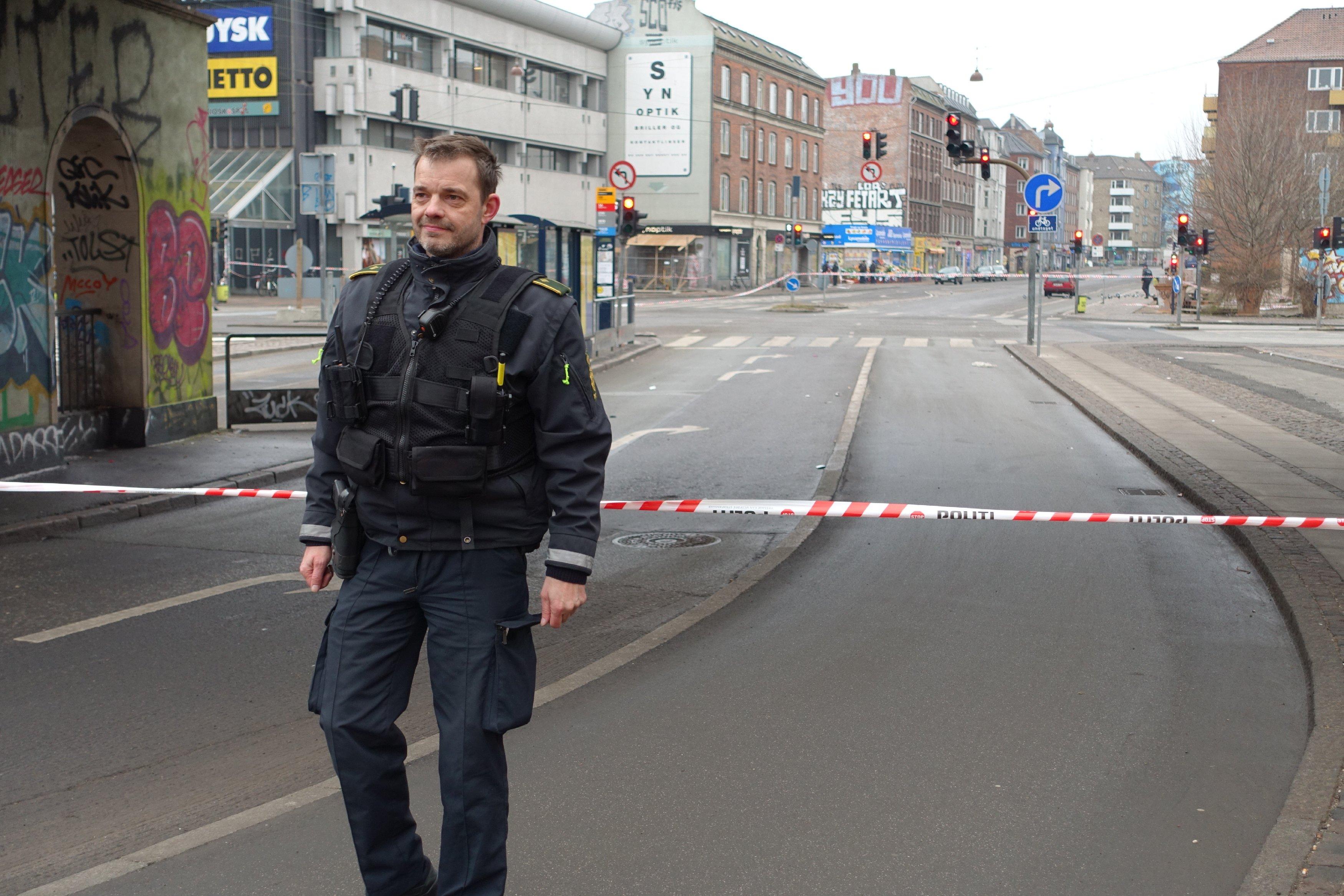 Полиция Копенгагена на месте происшествия