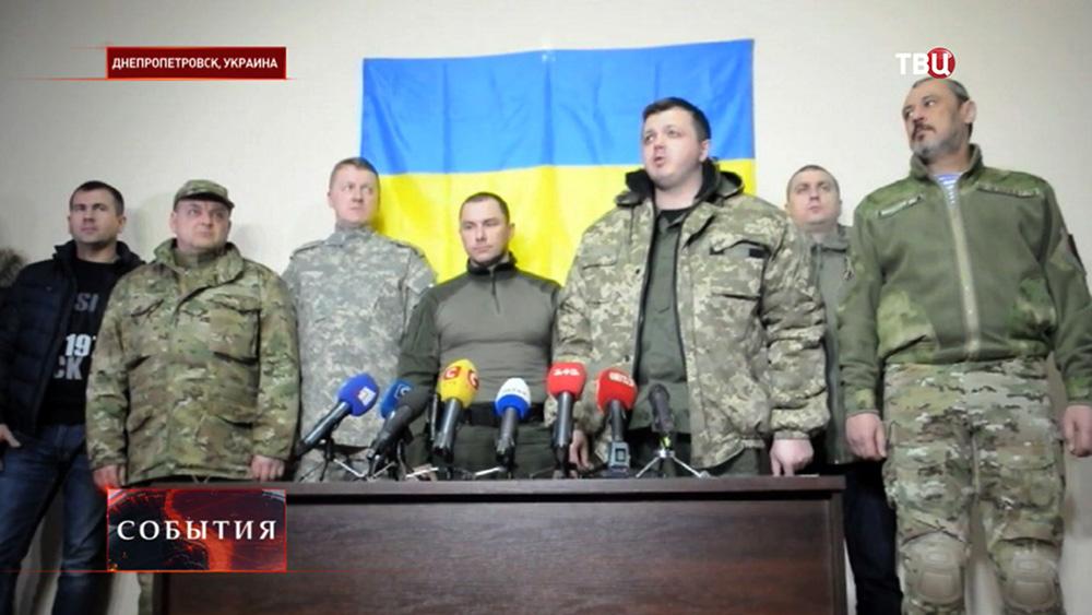 Семен Семенченко на пресс-конференции