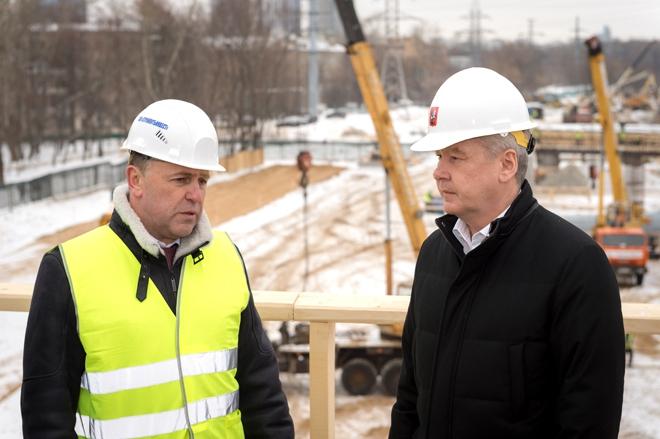 Сергей Собянин на реконструкции Коптевского путепровода
