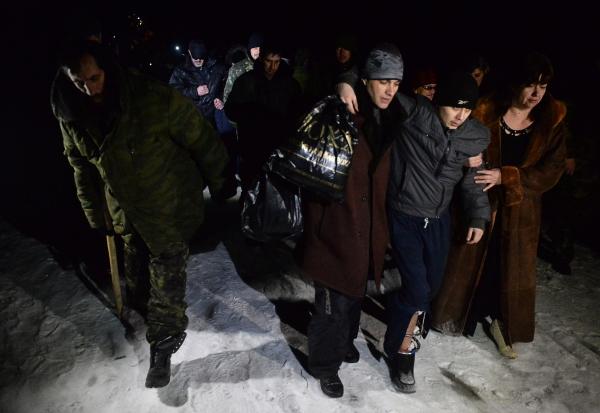 Военнопленные ДНР и ЛНР во время процедуры обмена