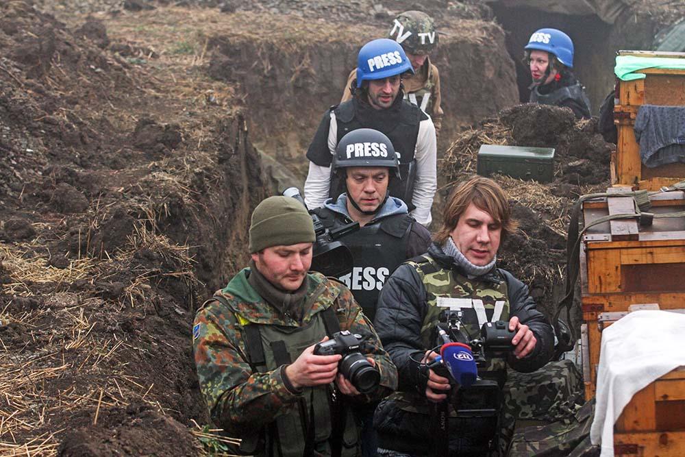 Журналисты на востоке Украины