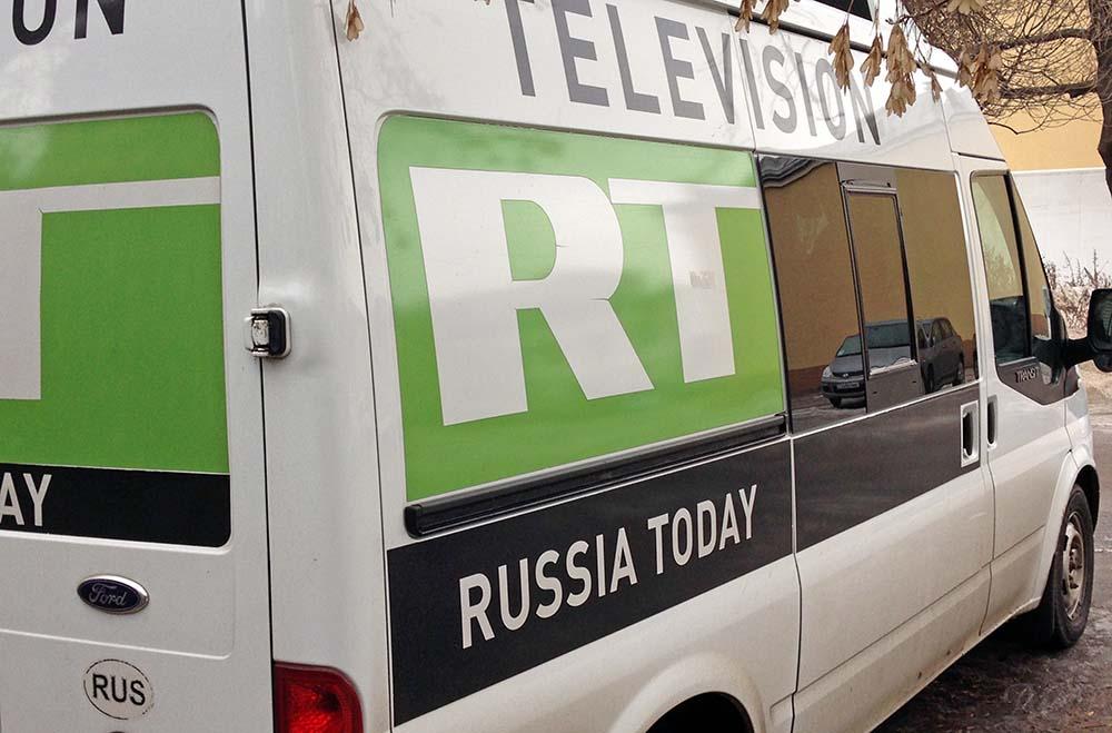 Машина телеканала Russia Today