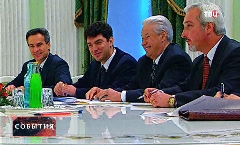 Сергей Ястржембский, Борис Немцов и Борис Ельцин