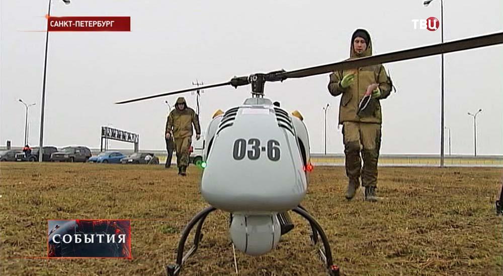 Беспилотный вертолет службы спасения МЧС Санкт-Питербурга