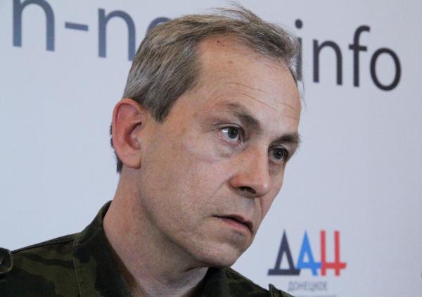 Заместитель командира ополчения Донецкой народной республики (ДНР) Эдуард Басурин на пресс-конференции