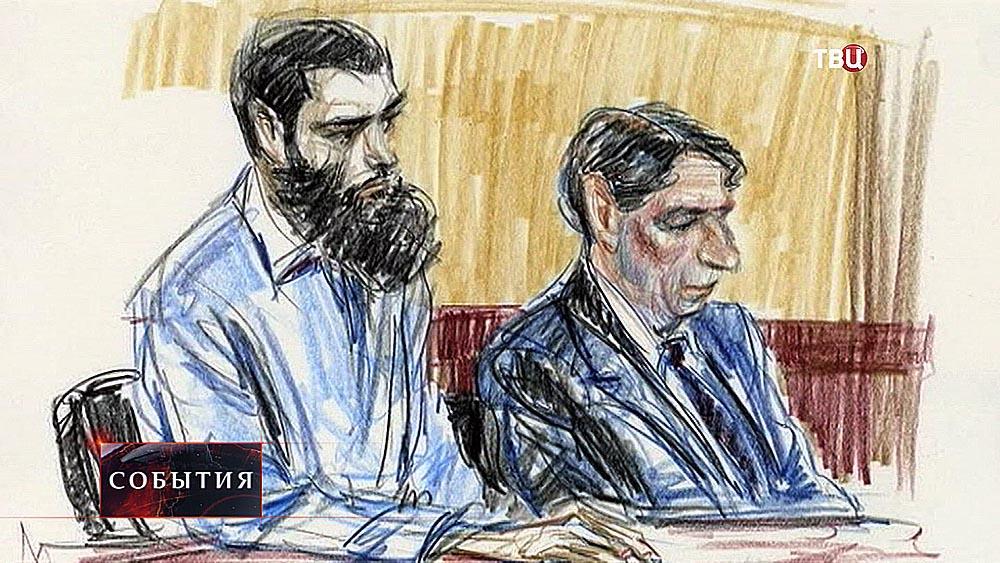 Абид Насер на заседании суда