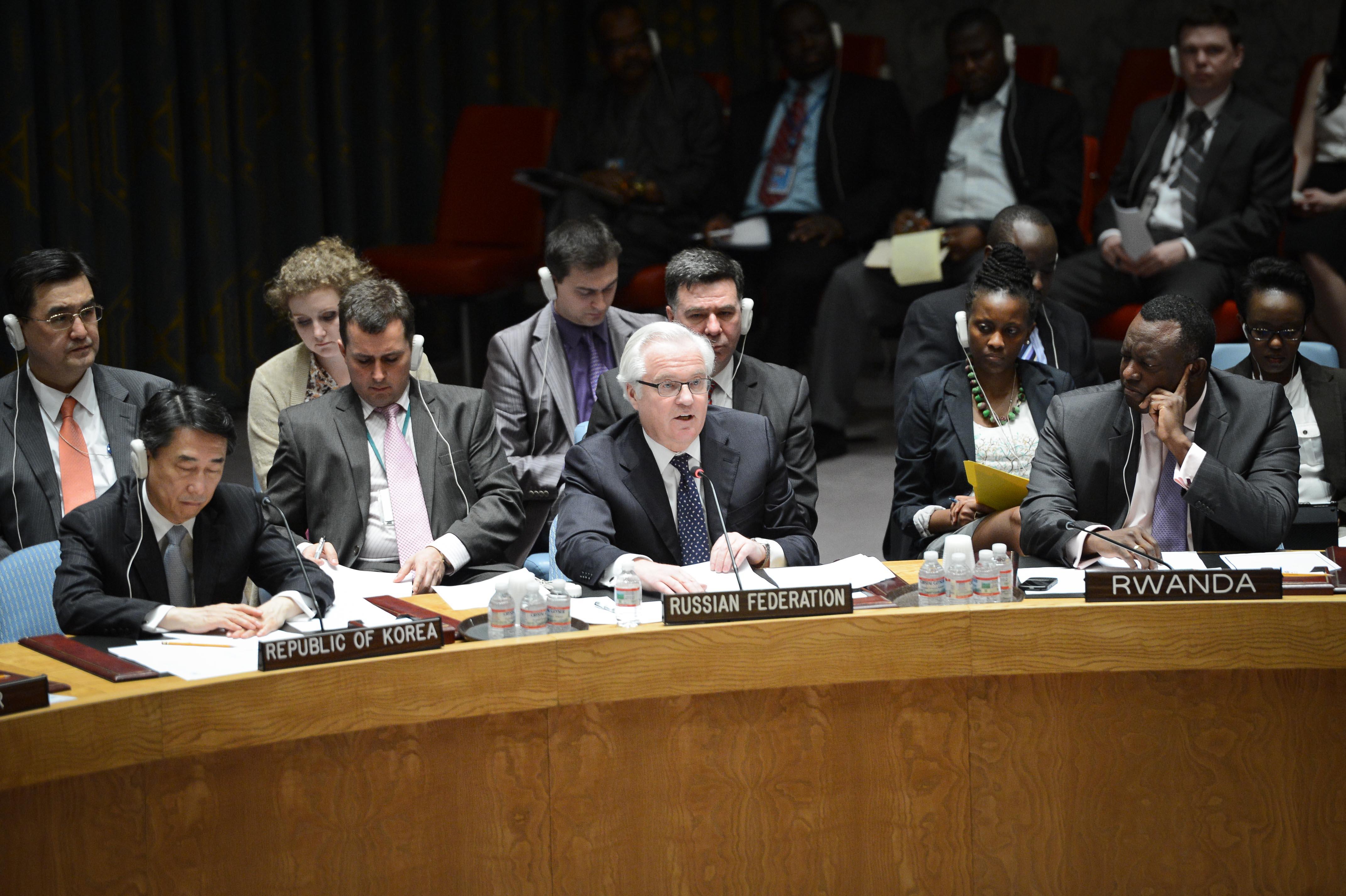 Постоянный представитель РФ в ООН Виталий Чуркин