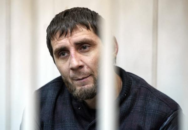 Обвиняемый в убийстве политика Бориса Немцова Заур Дадаев на заседании Басманного суда