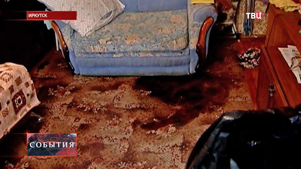 Место убийства ветерана и его жены в Иркутске