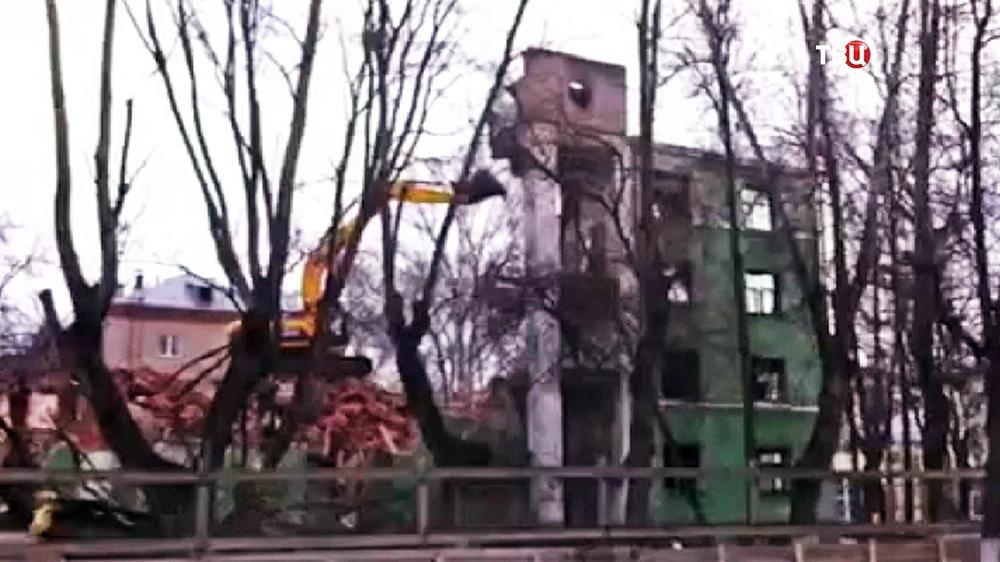Снос Дома Стройбюро в Королёве