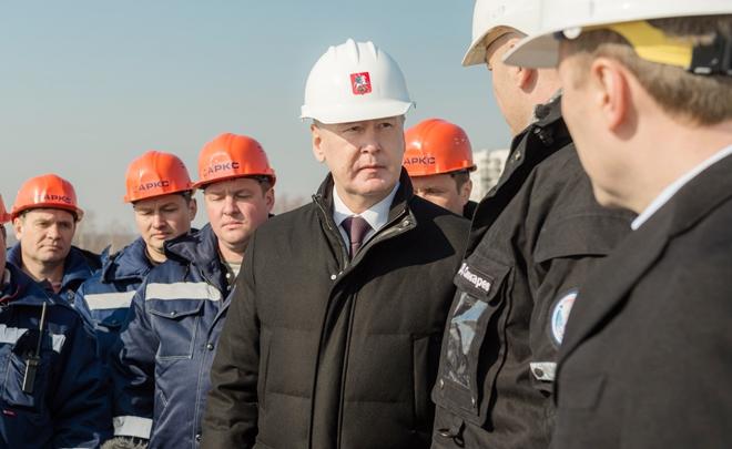 Сергей Собянин на реконструкции транспортной развязки на пересечении МКАД и Каширского шоссе