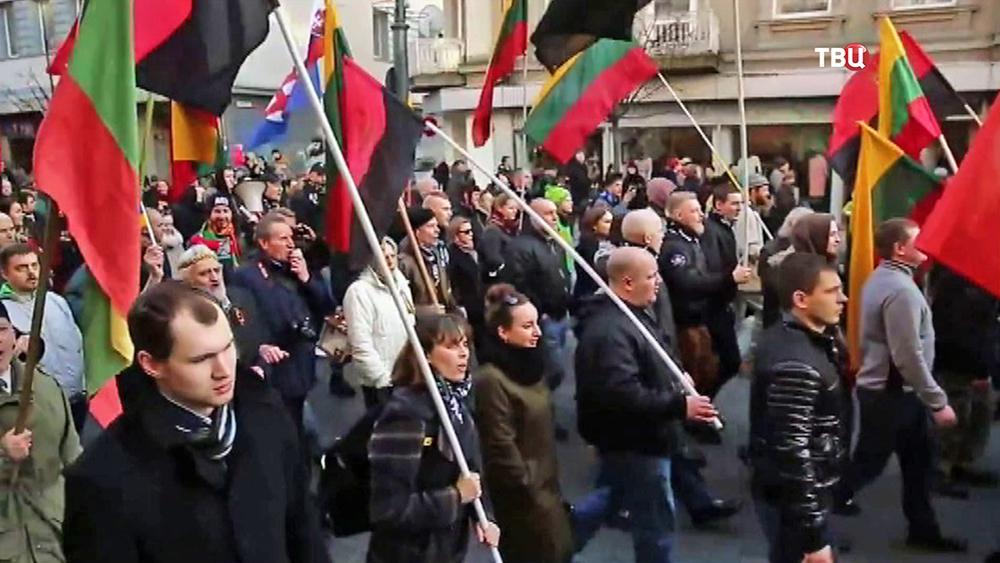 Митинг в Литве