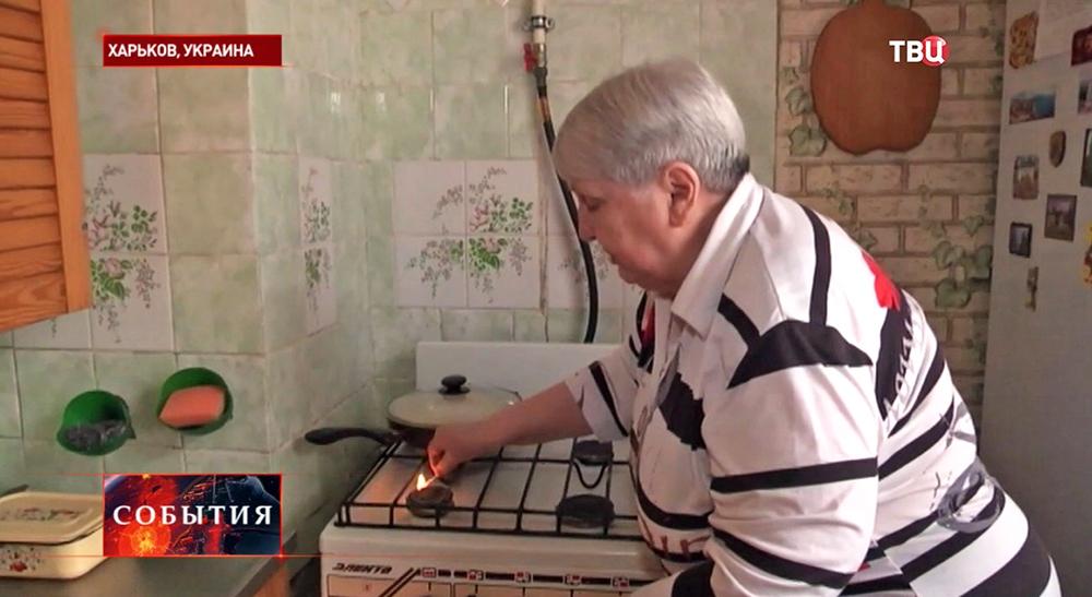 Пенсионерка в Харькове